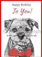 Dog Birthday Card - Border Terrier